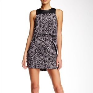 BCBGeneration Double Layered Printed Dress